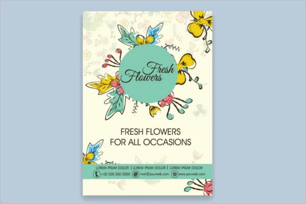 Flower Brochure Design Free