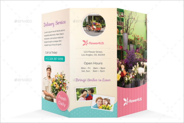 Flower Shop Brochure Template