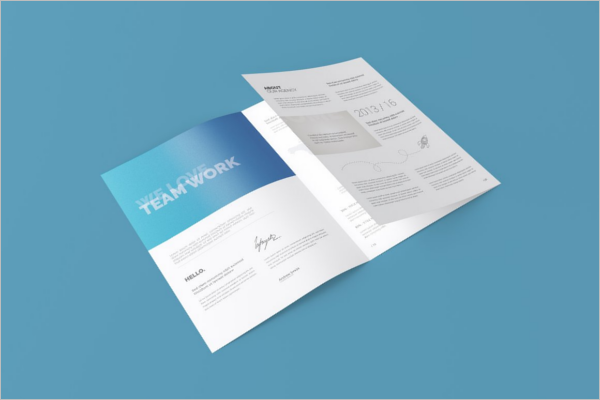 Folded Brochure Template