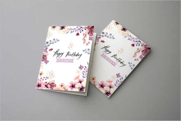 Folded Invitation Card Mockup
