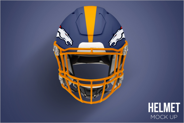 Football Helmet Mockup Free