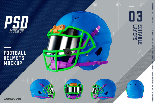Football Helmet Mockup PSD