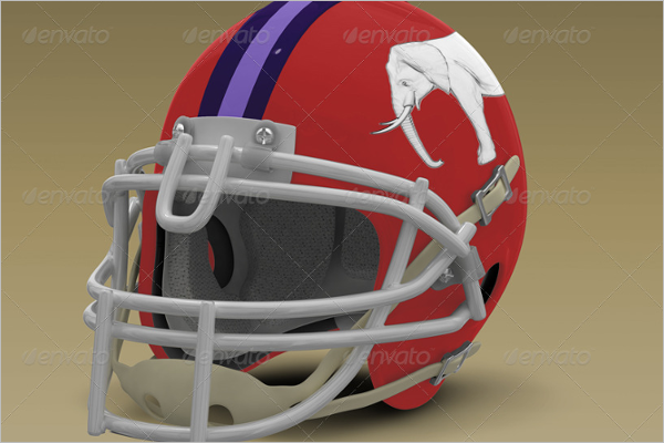 Football Helmet Mockup Template
