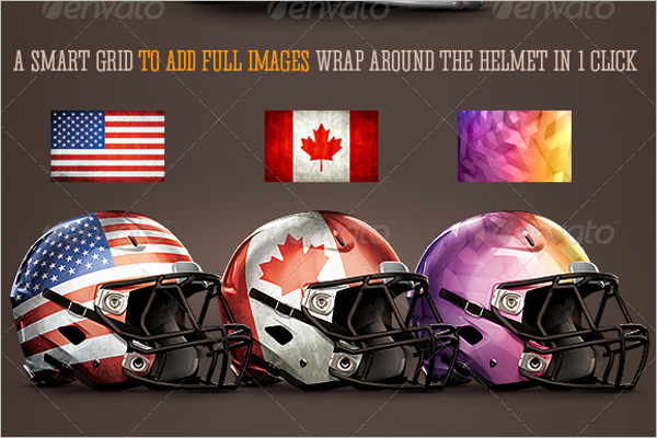 Football Helmet Photoshop Mockup