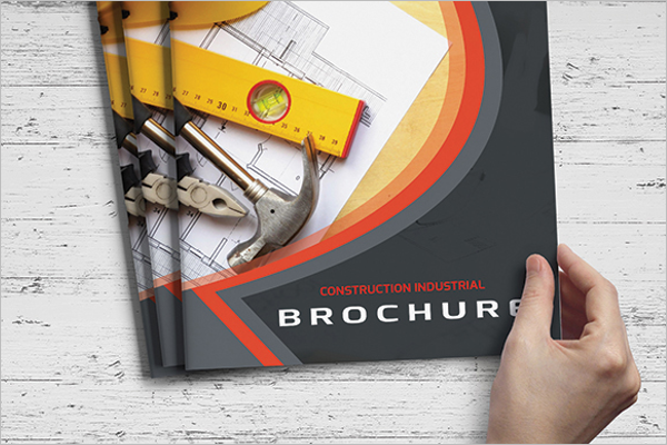 Free Construction Company Brochure Design