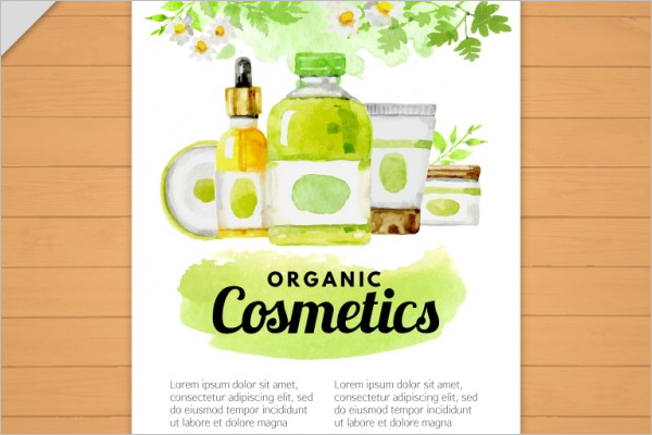 Free Cosmetic Store Brochure Design