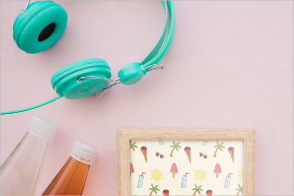 Free-Decorative-Headphones-Mockup-