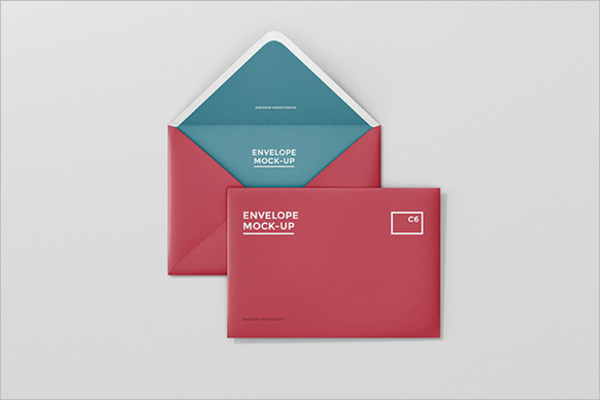 Free Envelope Mockup Design
