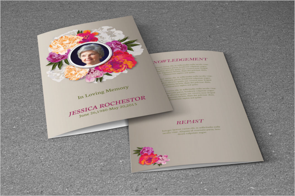Free Funeral Program PSD