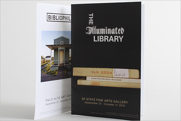 Free Library Brochure Design Template