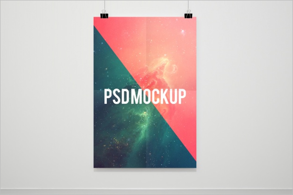 Free PSD Poster Mockup Example