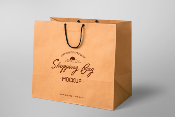 Free Paper Shopping Bag Mockup Design