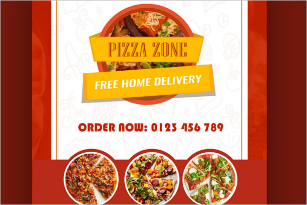 Free Pizza Brochure Design