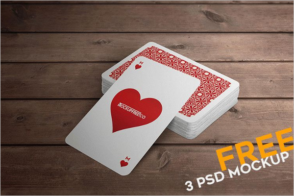 Free Playing Card Mockup