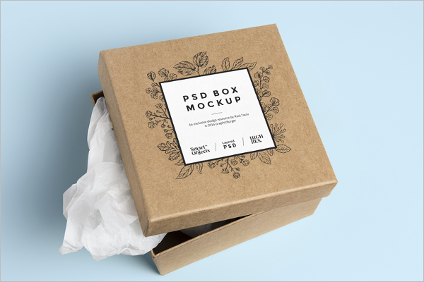 Free Square Packaging Mockup Design