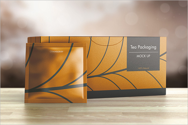 Free Tea Packaging Mockup Design