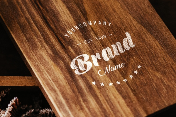 Free Wood Logo Mockup Design