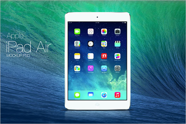 Free iPad Air Mockup Design