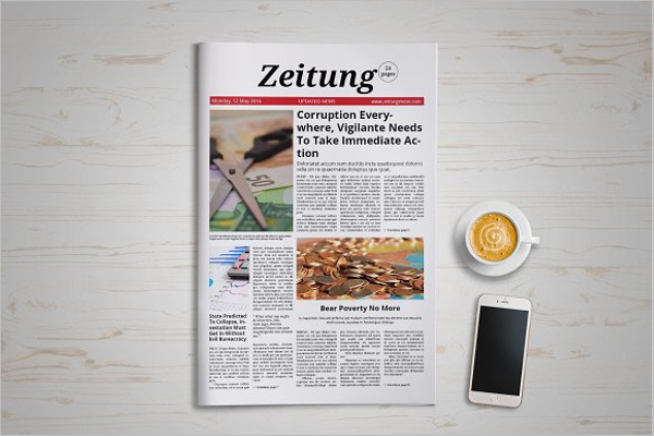 Full page Newspaper Mock up