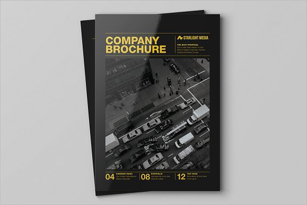 Fully Editable Advertising Brochure