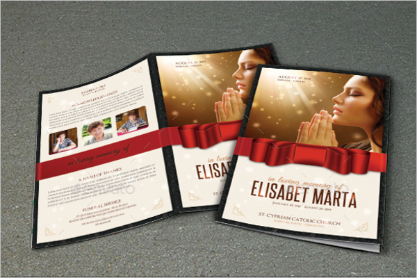 Funeral Brochure InDesign