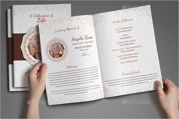 Funeral Brochure Photoshop