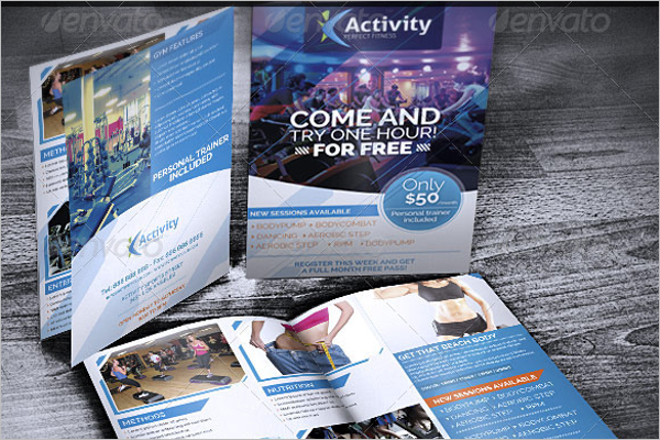 GYM Bifold Brochure Template