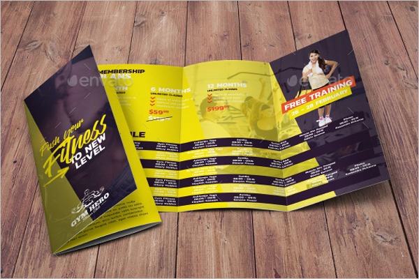 GYM Informational Brochure Template