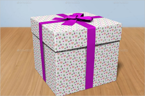 Gift Box Delivery Mockup