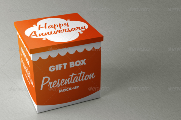 Gift Box Obeject Mockup