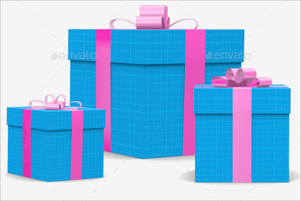 Gift Box Presentation Mock-up
