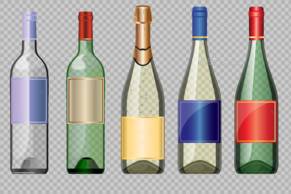 Glass Bottle Mockup Design