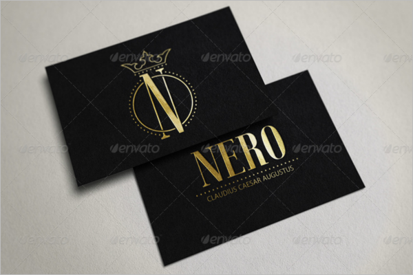 Gold Business Card Mockup