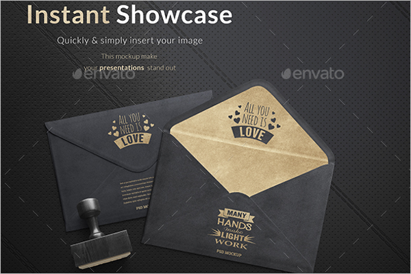 Gold Envelope Mockup
