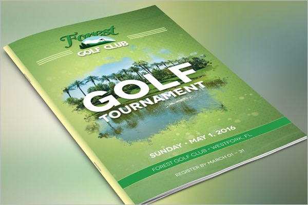 Golf Brochure PSD Template