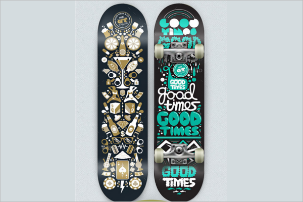 Graphic Skateboard Mockup