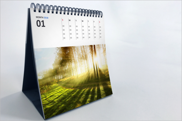 Graphical Calendar Mockup Design