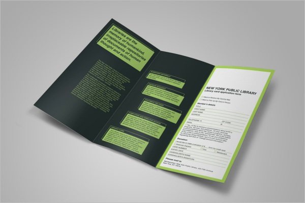 Graphical Design Library Brochure Free