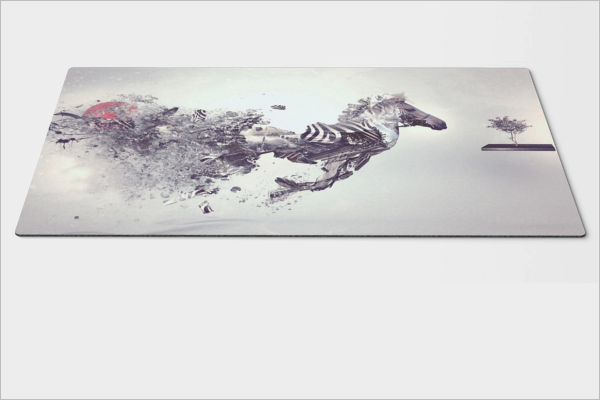 GraphicalMouse Pad Mockup Design