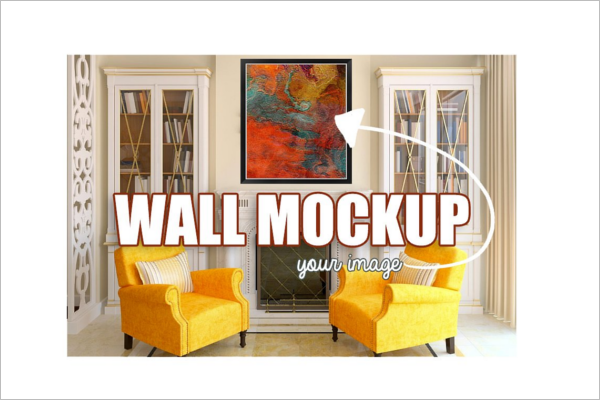 Graphical  Wall Art Mockup