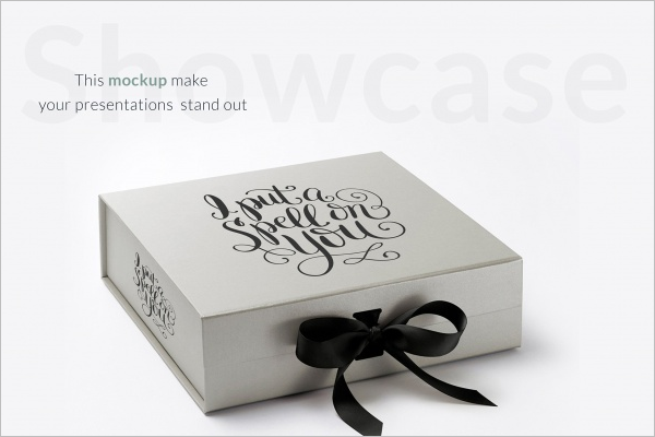 Greay Gift Box Mockup