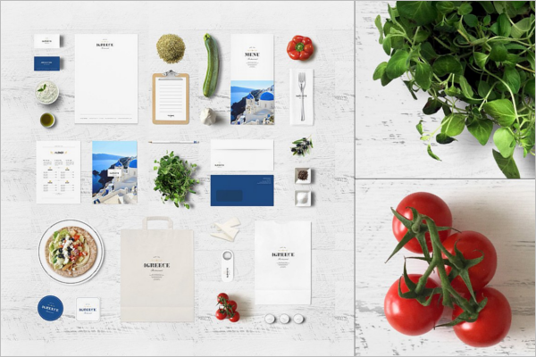 Greek Restaurant Branding Mockup
