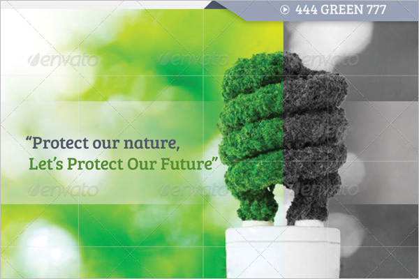 Green Brochure PSD Template