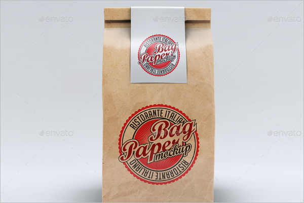 Groceries Paper Bag Mockup Template