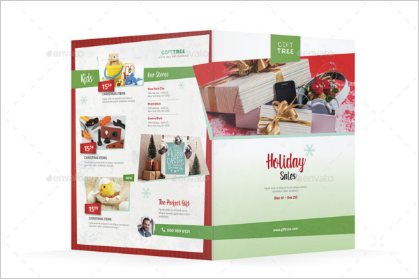 Halffold Christmas Brochure Design