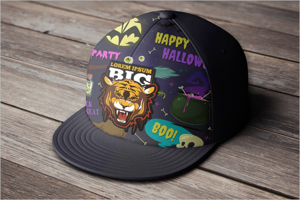 Halloween Party Cap Mockup Design