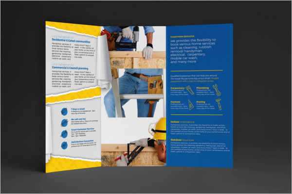 Handyman Construction Company Brochure