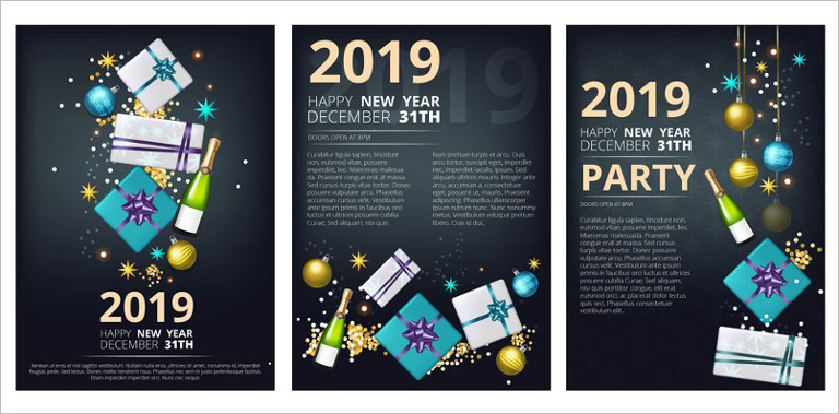 Happy New Year Brochure Templates