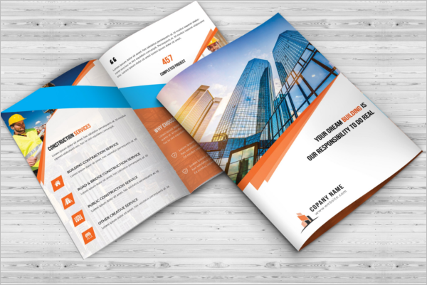 High Quality Construction Company Brochure Design
