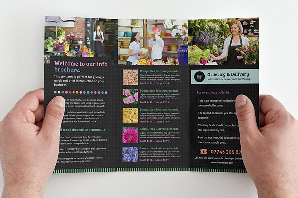 High Quality Flower Shop Brochure design